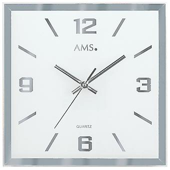 Quartz wall clock wall clock quartz faceted and printed mirror glass