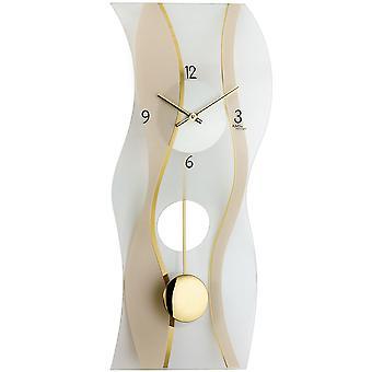 Kvarts vegg klokke vegg klokke quartzklokke med pendelen sateng og trykte mineralglass
