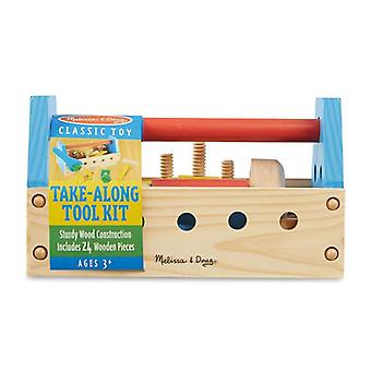Melissa & Doug Wooden Take-Along Tool Kit