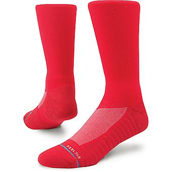 Stance Athletic Icon 2 Crew Socks in Red