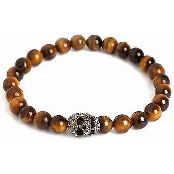 Simon Carter Skull Bead Bracelet - Tigerseye/Black