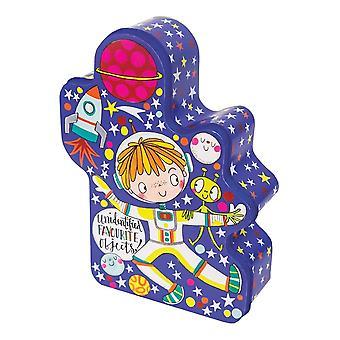 Boys Spaceman Storage Tin - Rachel Ellen