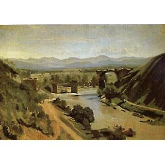 The Bridge at Narni A study, Jean Baptiste Camille Corot, 34x48cm