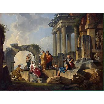 Ruinen mit Apostelszene, Giovanni Paolo Panini, 50x40cm