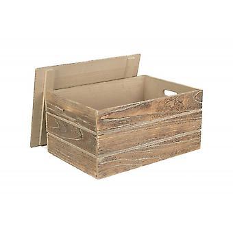 Extra große Lidded Eiche Effekt Aufbewahrung Holzkiste