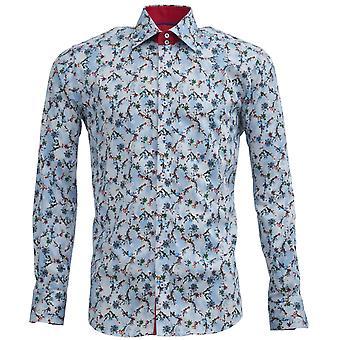 Claudio Lugli Tie Dye Flower Print Mens Shirt