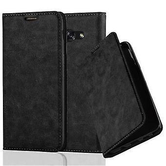 Futerał Cadorabo do obudowy Samsung Galaxy A5 2017 - futerał na telefon z magnetycznym zapięciem, funkcją stojaka i komorą na kartę - Etui ochronne Case Book Folding Style