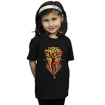 Marvel Girls Captain Marvel Flying V T-Shirt