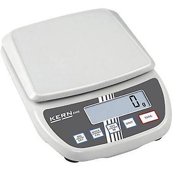 رسالة كيرن جداول الوزن مجموعة 12 كغم القراءة 0.1 g مدعوم من التيار الكهربائي، البطارية الأبيض