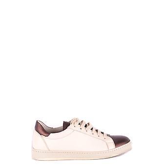 Brunello Cucinelli Ezbc002066 Women's Beige Leather Sneakers