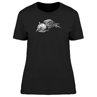 Crow mit Kürbiskopf T-Shirt Herren-Bild von Shutterstock