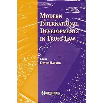 Acontecimientos internacionales modernas en derecho fiduciario por Hayton y David J.