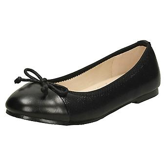 Na miejscu dziewczyny kokarda szczegółowe baleriny buty H2507