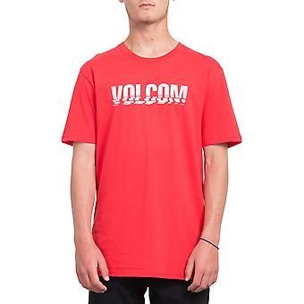 Volcom Chopped Edge Short Sleeve T-Shirt in Vero Rosso