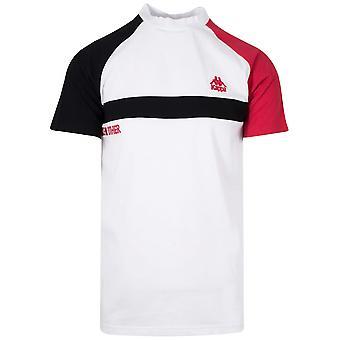 Kappa wit contrast ' als geen andere ' T-shirt