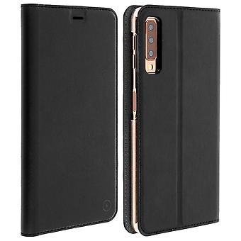 Muvit Slim Case, capa de cristal flip cover para Samsung Galaxy a7 2018-preto