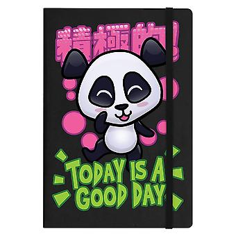 Handa Panda Today Is A Good Day A5 Hard Cover Notebook