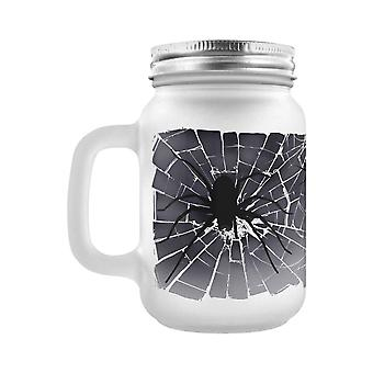 Grindstore Spider Invasion Frosted Mason Jar Drinking Glass