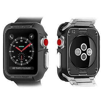 42mm Watch Case (Series 3, 2 and 1) Bumper Silicone Rugged Armor Spigen Black