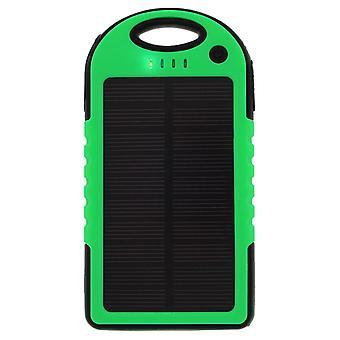 5000 mAh waterproof solar power bank- Green