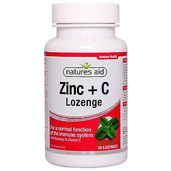 Nature's Aid Zinc Lozenge (Peppermint) with Rosehip + Vitamin C Lozenges 30 (17410)