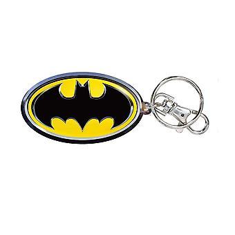 Metal Key Chain - DC Comic - Batman Logo Color Filled Pewter Toys New 45062