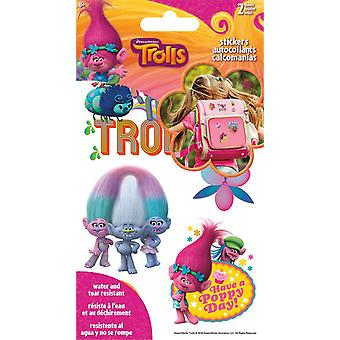Sticker Stickables Tyvek - Trolls - 2 Sheet New Licensed st1413
