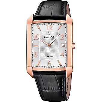 פסטינה-שעון יד-גברים-F20465/1-רצועת עור קלאסי