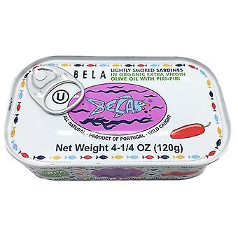 Bela Sardines Lightly Smoked Organic Cayenne Pepper