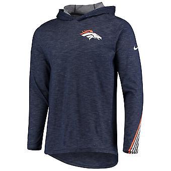 Nike Nfl Denver Broncos Sideline Scrimmage Performance T-shirt Hood