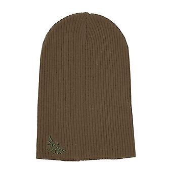 Zelda Beanie Hat Hyrule Logo Slouch new Official Nintendo Brown