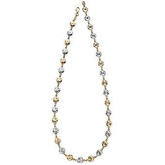 Elements guld organisk skive halskæde-guld/sølv