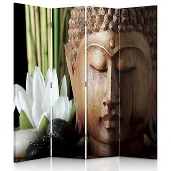 Raumteiler, 4 Tafeln, Doppelseitig, Leinwand, Buddha 3