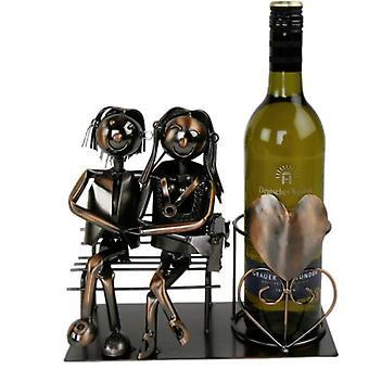 Viinipullo haltija pari rakkaus