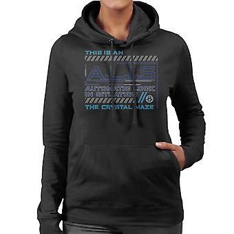 The Crystal Maze ALIS Automatic Lock In Situation Women's Hooded Sweatshirt