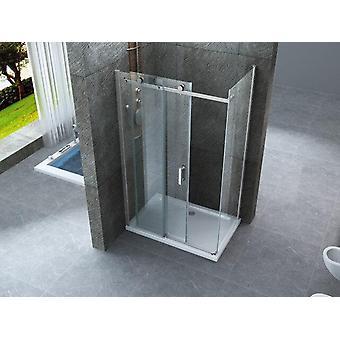 Caja de ducha 70x150 cristal 8mm abertura deslizante transparente - sagitario