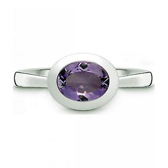QUINN - Ring - Women - Silver 925 - Gemstone - Amethyst - Width 56 - 21400633