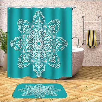 Mandala With Turquoise Shower Curtain