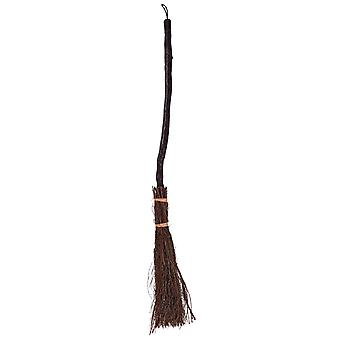 Witches broom 90 cm wood look sticks bristles accessory costume Halloween Carnival