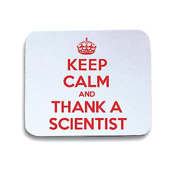 White mouse pad pad wtc0012 keep calm thank scientist