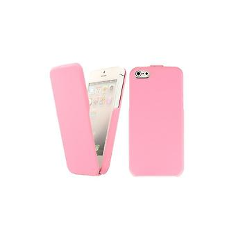 Cover Faux Leather Rose Vertical Opening For IPhone 5