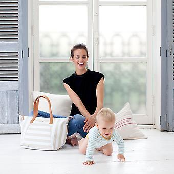 Storksak noa - stripe fawn diaper bag