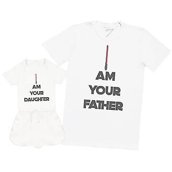 Ik ben uw vader en dochter-mens T shirt & baby meisje boxpakje