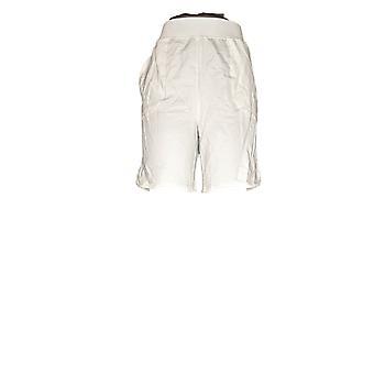 Denim & Co. Kobiety's Szorty francuski Terry Pull-On White A351341