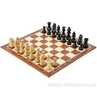 Down Head Compact Black Tournament Chess Set