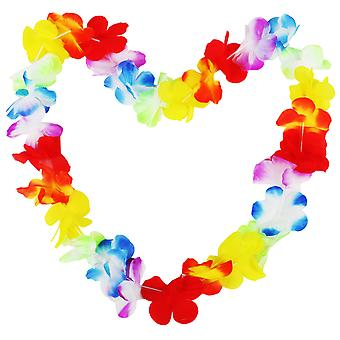 10PC Hawaiian Lei-Flower Garland - Aloha Hawaii Luau - Tropical Floral Necklace