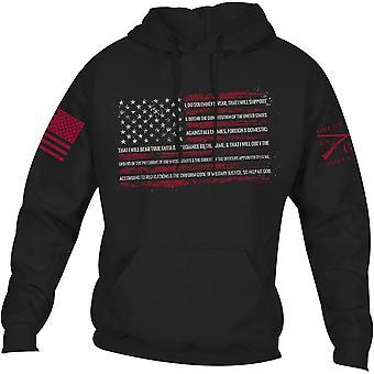 Grunt stijl de eed Pullover hoodie-zwart