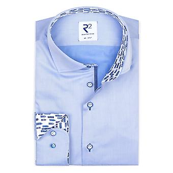 R2 Hidden Button Down Collar Shirt Light Blue