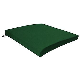 Gardenista Garden Chair Seat Pad | Slip Free Hypoallergenic Cushion | Water Resistant Thick Quality Cushion Pads | Great for Indoors & Outdoors | Secure Ties | 1 Piece (Green)