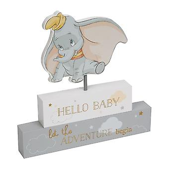 Widdop Bingham Disney Magical Beginnings Dumbo Mantel Block - Hello Baby